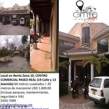 Local en Renta Zona 10 CC Paseo Real